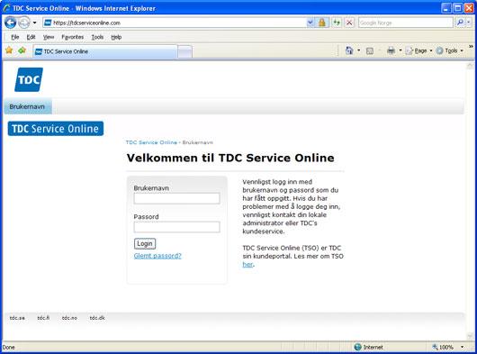 TDC Service Online